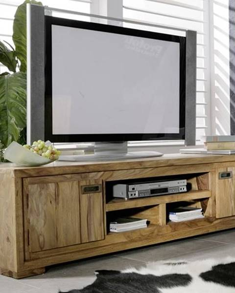 Bighome.sk LIGHT WOOD TV stolík 180x40 cm, palisander