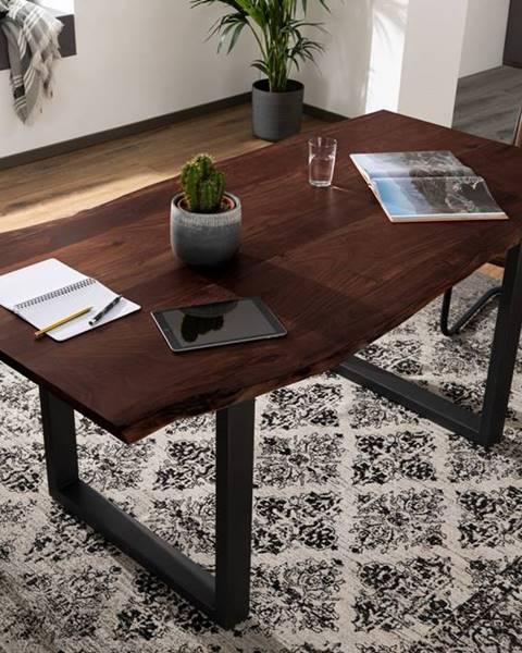 Bighome.sk METALL Jedálenský stôl s antracitovými nohami (matná) 160x90, akácia, hnedá