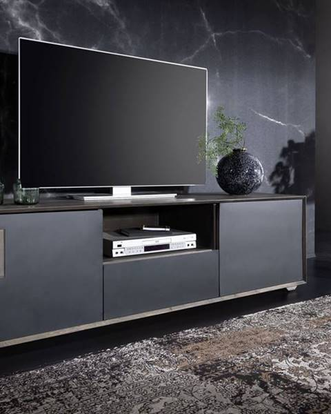 Bighome.sk TAMPERE TV stolík 50x180 cm, dub, dymová