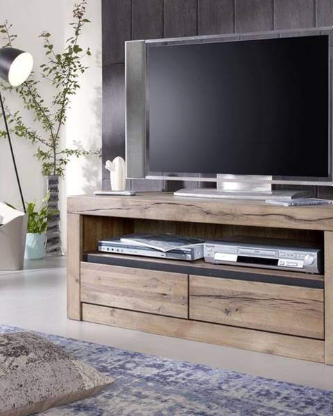 Bighome.sk VEVEY TV stolík 115x49 cm, svetlohnedá, dub