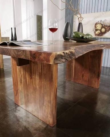 METALL Jedálenský stôl 190x110 cm, akácia
