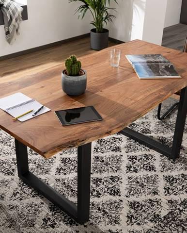 METALL Jedálenský stôl s antracitovými nohami (matné) 200x100, akácia, prírodná