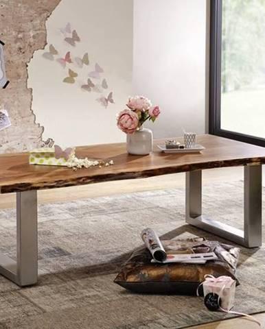 METALL Konferenčný stolík 150x70 cm, akácia
