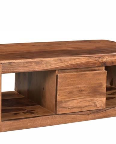 MONTREAL Konferenčný stolík 118x40 cm, hnedá, palisander