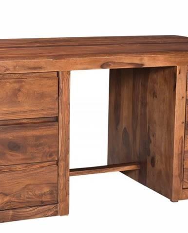 MONTREAL Písací stôl 150x75 cm, hnedá, palisander