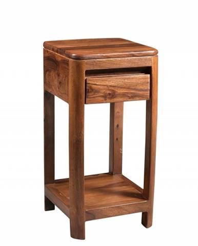MONTREAL Príručný stolík 30x30x60 cm, hnedá, palisander