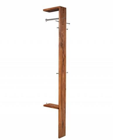 MONTREAL Vešiak 200x36 cm, hnedá, indický palisander