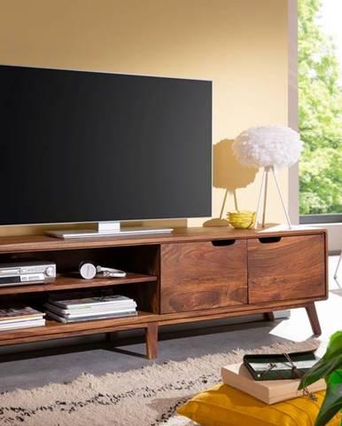 SKANE TV stolík I. 180x48 cm, palisander, hnedá