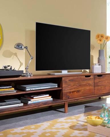 SKANE TV stolík I. 220x48 cm, palisander, hnedá