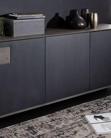 TAMPERE Komoda 78x180 cm, dub, dymová