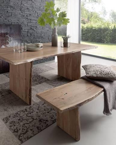 WOODLAND Jedálenský stôl 160x100 cm, prírodná, akácia