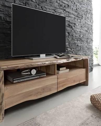 WOODLAND TV stolík 151x50 cm, prírodná, akácia