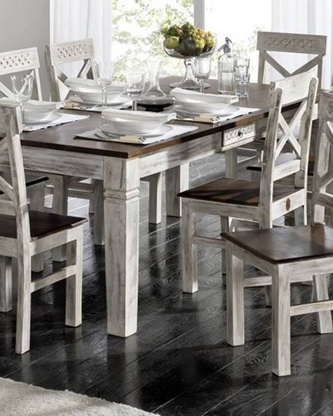 Bighome.sk ANTIK Jedálenský stôl 90x90 cm, mango a akácia