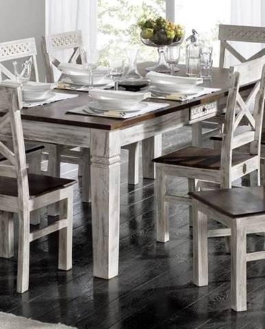 ANTIK Jedálenský stôl 150x90 cm, mango a akácia