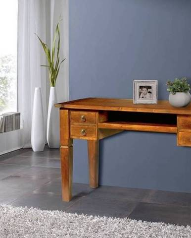 CAMBRIDGE HONEY Písací stôl 130x77 cm, akácia