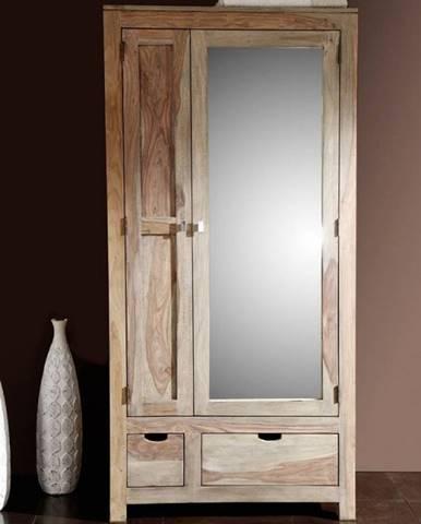 GREY WOOD Skriňa 199x96 cm, palisander