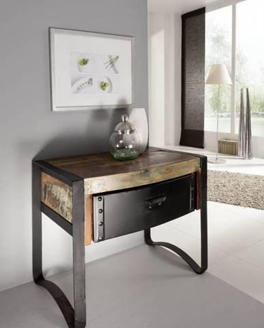 INDUSTRY Nočný stolík 50x40 cm, staré drevo