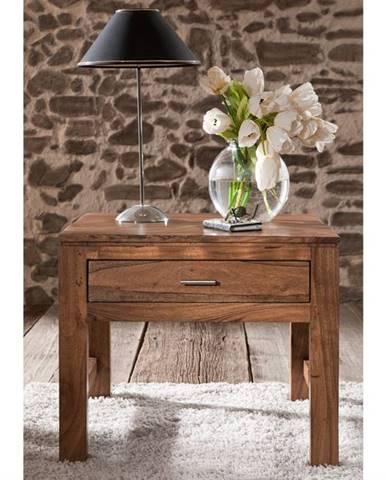 KOLINS Píručný stolík 60x60 cm, akácia