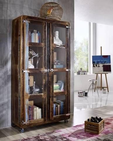 TESORI Vitrína 180x100 cm, staré drevo