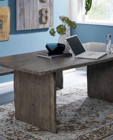 WOODLAND Jedálenský stôl 180x100 cm, sivá, akácia