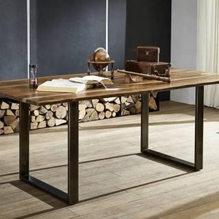 ROUND Jedálenský stôl METALL 200x100 cm