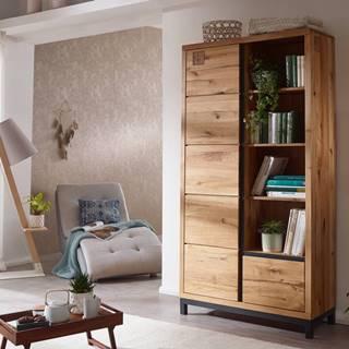 TIROL Knižnica 200x100 cm, prírodná, dub