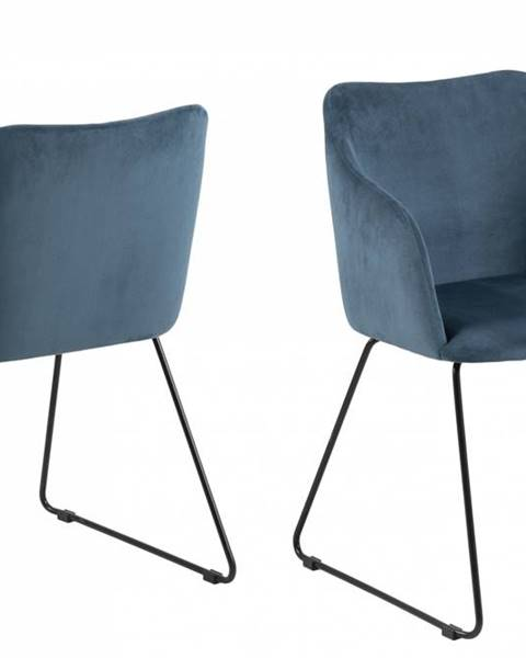 Bighome.sk Jedálenská stolička s opierkami CASABLANCA, tmavomodrá