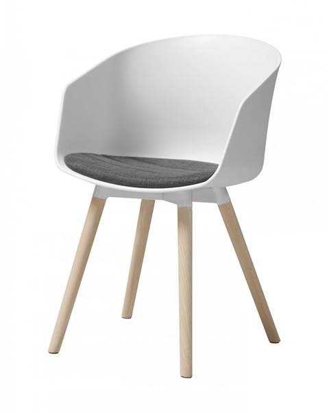 Bighome.sk Jedálenská stolička s opierkami MOON, biela