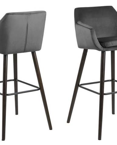 Barová stolička NORA, sivá