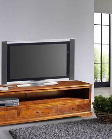 CAMBRIDGE HONEY TV stolík 176x50 cm, akácia
