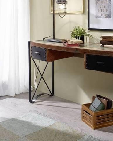 INDUSTRY Písací stôl 135x50 cm, staré drevo