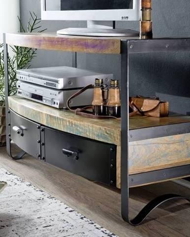 INDUSTRY TV stolík 100x60 cm, staré drevo