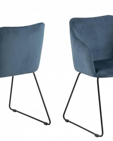 Jedálenská stolička s opierkami CASABLANCA, tmavomodrá