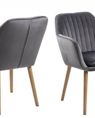 Jedálenská stolička s opierkami EMILIA, tmavošedá