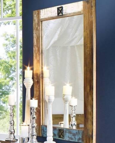 OLDTIME Zrkadlo 120x80 cm, staré drevo