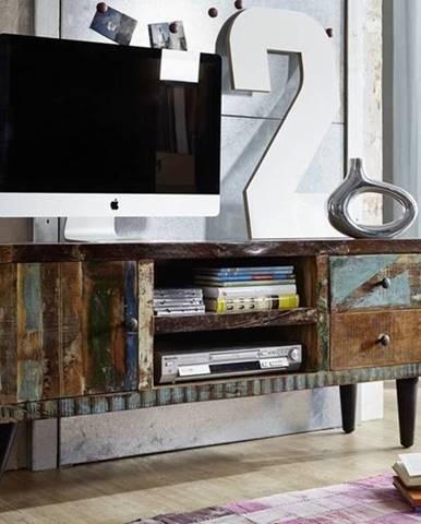 RETRO TV stolík 145x62 cm, staré drevo