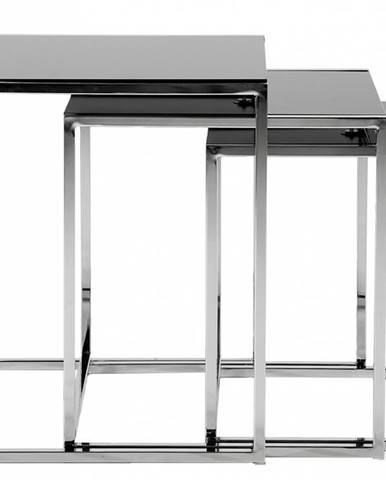 Set konferenčných stolíkov CROSS, čierna