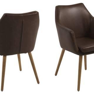 Jedálenská stolička s opierkami NORA, čokoládová