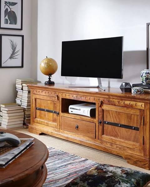 Bighome.sk CAMBRIDGE HONEY TV stolík 170x55 cm, akácia