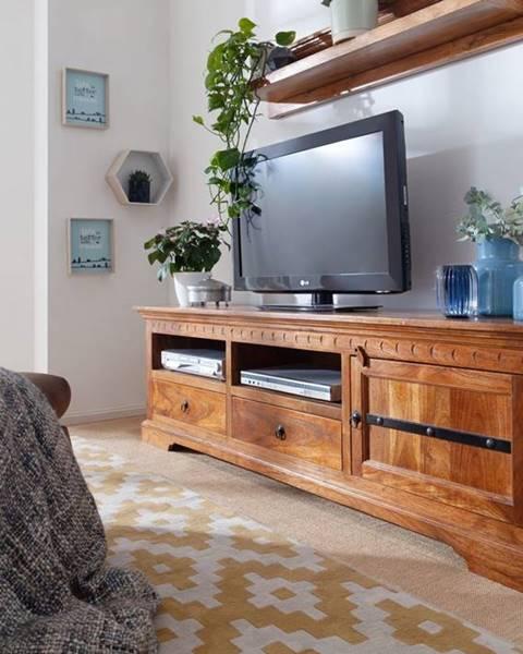 Bighome.sk CAMBRIDGE HONEY TV stolík 180x55 cm, akácia