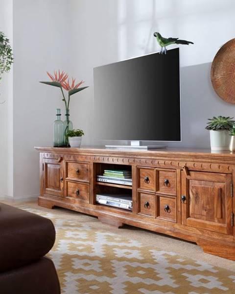 Bighome.sk CAMBRIDGE HONEY TV stolík 220x55 cm, akácia