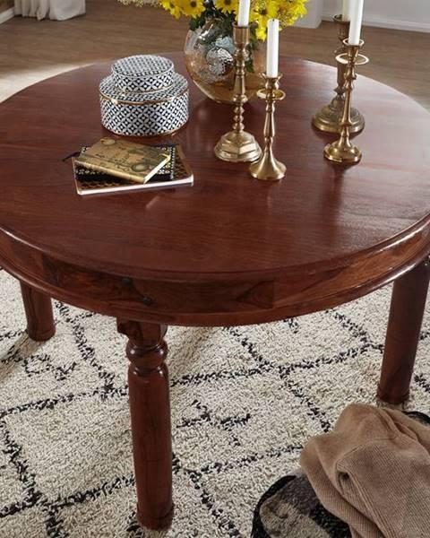 Bighome.sk CAMBRIDGE Jedálenský stôl 140x140 cm, akácia