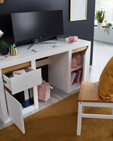 ALBURY Jedálenská stolička, borovica, biela