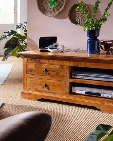 CAMBRIDGE HONEY TV stolík 115x50 cm, akácia
