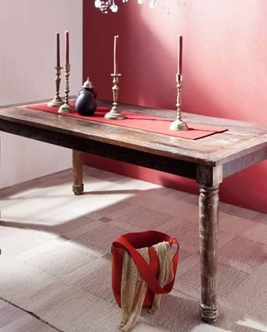 COLORES Jedálenský stôl 100x80 cm, staré drevo