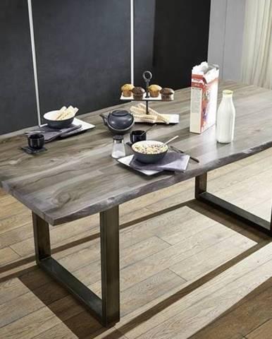 ROUND Jedálenský stôl 180x90 cm, dymová, palisander