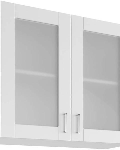 MERKURY MARKET Skrinka do kuchyne Milano Bianco Super Mat UOW 80/2
