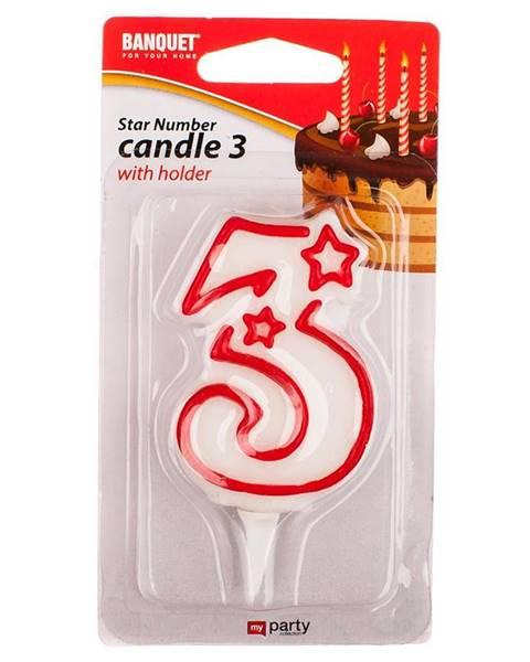MERKURY MARKET Narodeninová sviečka nr 3