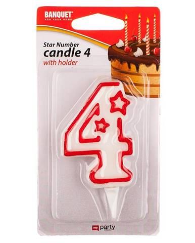 Narodeninová sviečka č. 4