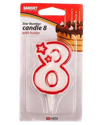 Narodeninová sviečka na 8